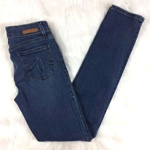 Level 99 Lily Skinny Straight Jeans Meadow Wash